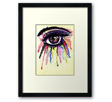 Watercolor Eye in Anime Style Framed Print