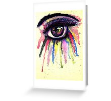 Watercolor Eye in Anime Style Greeting Card