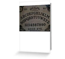 Ouija. Greeting Card
