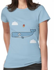 FALLING WHALE Womens Fitted T-Shirt