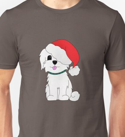 Merry Christmas Lily the Maltese Unisex T-Shirt
