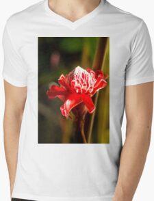 Red Flower - Macro Photography Mens V-Neck T-Shirt
