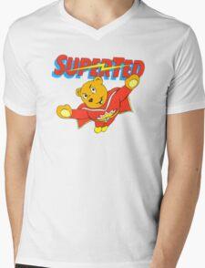 Super Ted Mens V-Neck T-Shirt