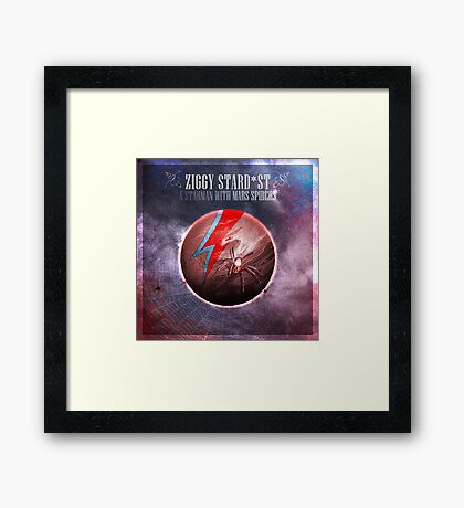 [SPACE ROCK LEGENDS!] A Starman with Mars Spiders Framed Print