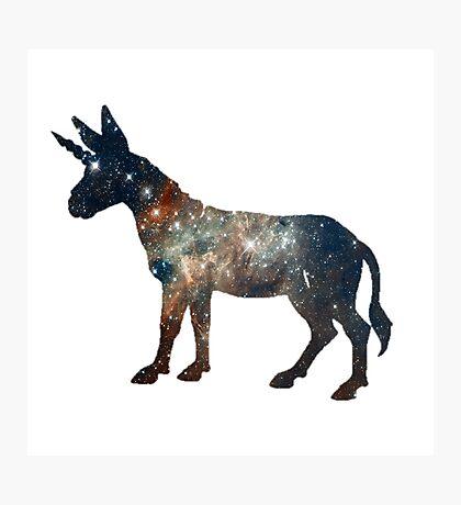 Dream Big Little Donkey, Dream Unicorn - ONE:Print Photographic Print