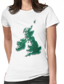 Great Britain  Map Womens Fitted T-Shirt
