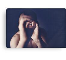 Self portrait photographer Edward Olive ra4 darkroom handmade print c41 color negative analog film photo Canvas Print
