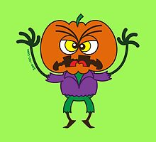 Frightening Halloween Scarecrow Emoticon by Zoo-co