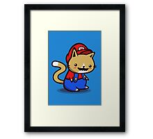 It's-a-me! Meow-rio! Framed Print