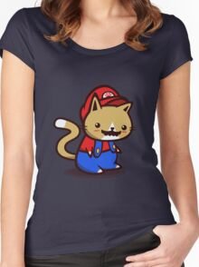 It's-a-me! Meow-rio! Women's Fitted Scoop T-Shirt