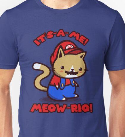 It's-a-me! Meow-rio! (Text ver.) Unisex T-Shirt