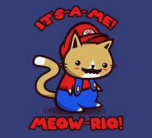 It's-a-me! Meow-rio! (Text ver.) Unisex T-Shirt
