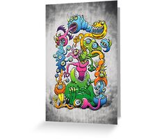 Messy and Monstrous Greeting Card