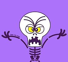Scary Halloween Skeleton Emoticon by Zoo-co