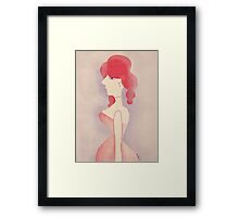 Saloon women Framed Print