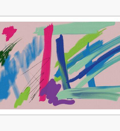 pastel strokes Sticker