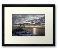 Lakeside Silver – Winter Morning Light Framed Print