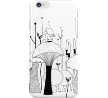 Bee on mushroom iPhone Case/Skin