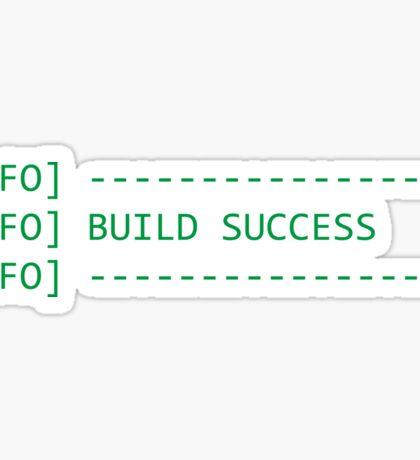 Build Success Sticker