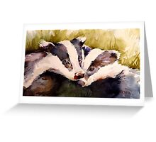 We Two Badger Cubs Greeting Card