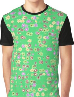 Flowers on green background Graphic T-Shirt