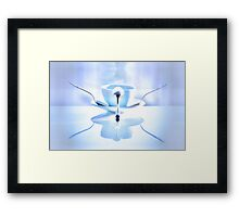 Blue balance in my cup of coffee Framed Print