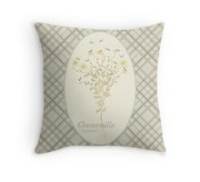 Chamomile Bees (natural) Throw Pillow
