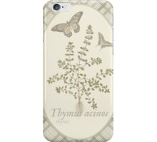 Butterflies and Thyme (natural) iPhone Case/Skin