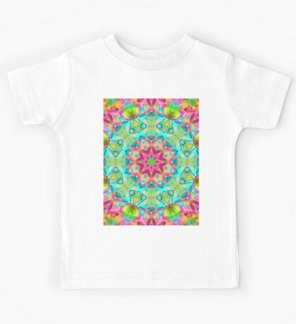 kaleidoscope Flower Abstract G119 Kids Tee
