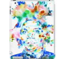 BASQUIAT JEAN MICHEL - watercolor portrait iPad Case/Skin