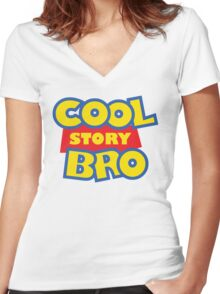 Cool Story Bro! Women's Fitted V-Neck T-Shirt