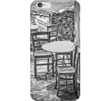 It's summertime, take your chairs and tables out in the sunshine iPhone Case/Skin