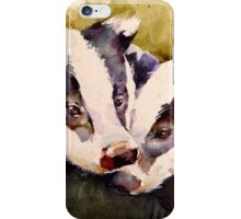 We Two Badger Cubs iPhone Case/Skin