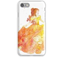 girl in yellow dress iPhone Case/Skin