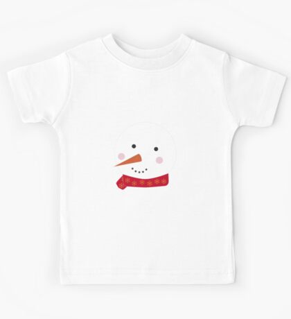 Snowman 1 red Kids Tee