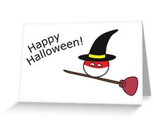 "Polandball Halloween - Polandwitch Plumber ""Happy Halloween"" Greeting Card"