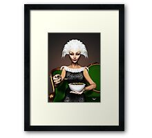Strictly vegetarian - the bird woman Framed Print