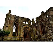 The ruins of melrose Abbey Photographic Print
