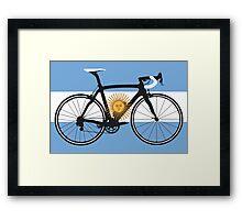 Bike Flag Argentina (Big - Highlight) Framed Print