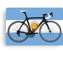 Bike Flag Argentina (Big - Highlight) Canvas Print