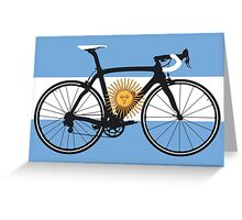 Bike Flag Argentina (Big - Highlight) Greeting Card