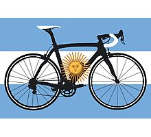 Bike Flag Argentina (Big - Highlight) Photographic Print