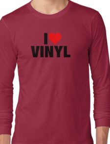 I Heart Vinyl Long Sleeve T-Shirt