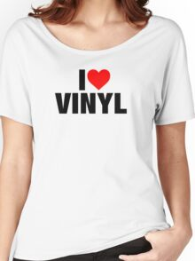 I Heart Vinyl Women's Relaxed Fit T-Shirt