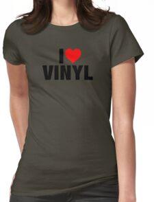I Heart Vinyl Womens Fitted T-Shirt