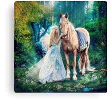 The Blue Fairy and Her Pony Canvas Print