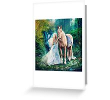The Blue Fairy and Her Pony Greeting Card