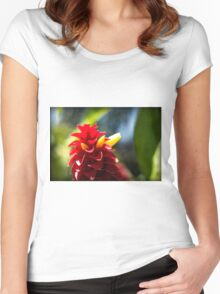 Crazy Flower - Nature Photography Women's Fitted Scoop T-Shirt
