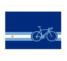 Bike Stripes Argentina Art Print