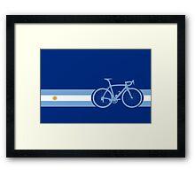 Bike Stripes Argentina Framed Print